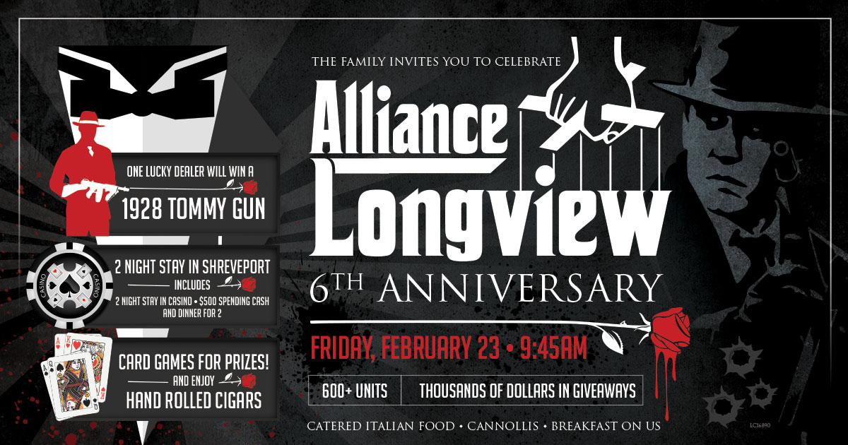 Longview 6th Anniversary Sale