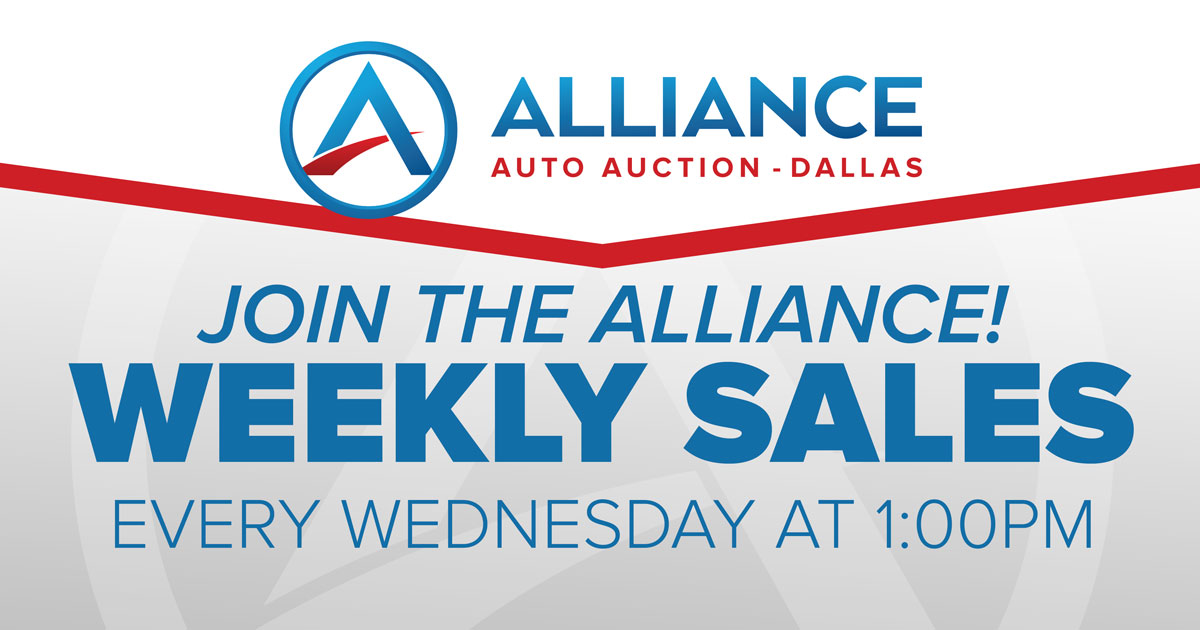 Join the Alliance Weekly Sales every Wednesday 1:30pm