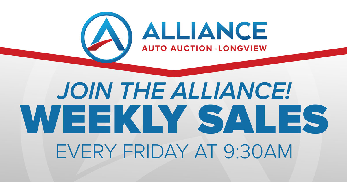 Join the Alliance Weekly Sales every Friday at 9:30am